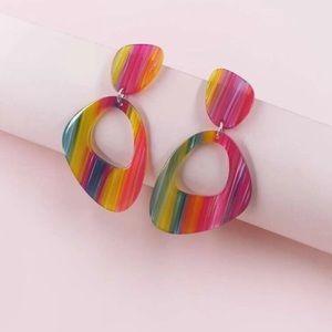 ⭐️ Acrylic Irregular Geo Drop Earrings ⭐️